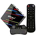 2018 Newest Android 8.1 HD 4K TV Box, 4GB 64GB Smart Box RK3328 Quad-Core Support 2.4G/5G Dual WiFi/H.265/Bluetooth/USB 3.0 with Wireless Backlit Keyboard