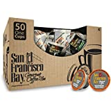 San Francisco Bay- Office OneCups- Decaf French Roast, 50 Count- SINGLE WRAP- Single Serve Coffee, Compatible with Keurig K-cup Brewers