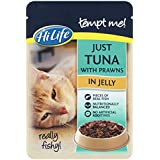 HiLife Tempt Me! Cat Food Just Tuna with Prawns in Jelly '16 x 85g Pouches'
