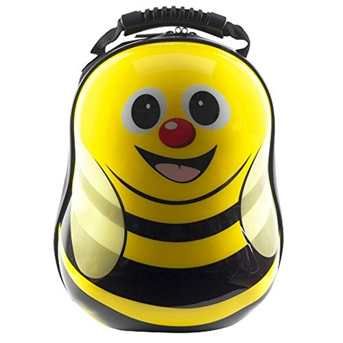 Cute Kids Bumble Bee Backpack Hard Top Suitcase Bag, Bee Themed Back Pack,Yellow (Bumblebee Suit)