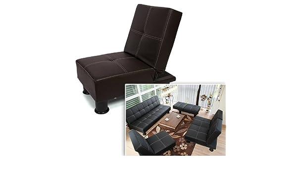 Homy - Sillón reclinable Sofá/Cama MELBOURNE, color marrón ...