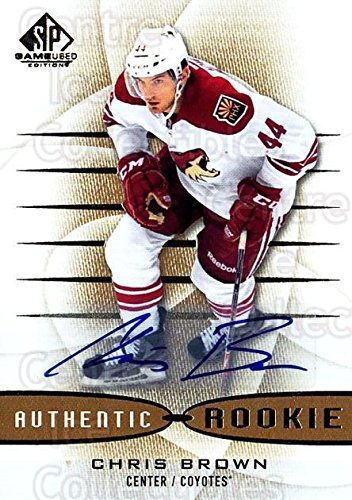 (CI) Chris Brown Hockey Card 2013-14 Sp Game Used Gold Autographs 175 Chris Brown