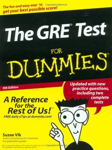 The GRE Test For Dummies (For Dummies (Lifestyles Paperback)) by Suzee Vlk (2002-09-01)