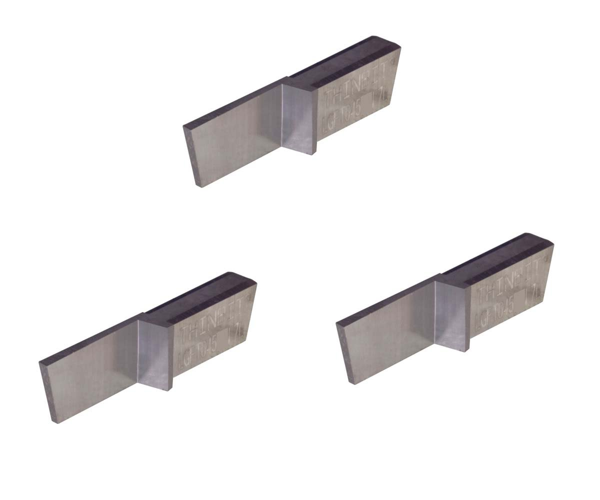 Uncoated Carbide THINBIT 3 Pack LGPT045D2 L Series Cast Iron and Stainless Steel with Interrupted Cuts Parting Insert for Steel
