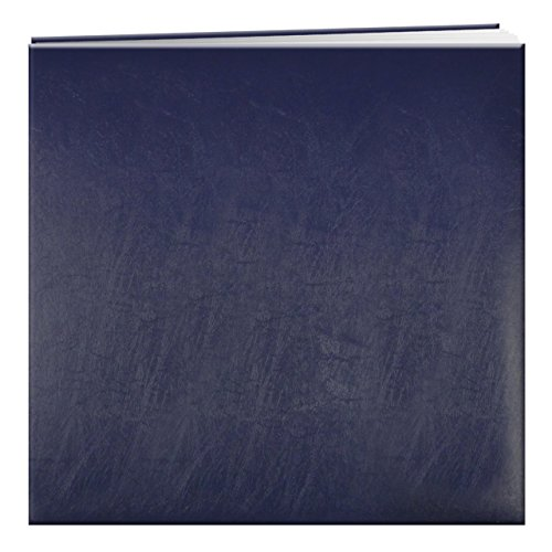 (Pioneer Photo Albums MB-50/NB 50 Page Post Bound Bonded Leather Scrapbook for 12 x 12 Pages, Navy Blue)