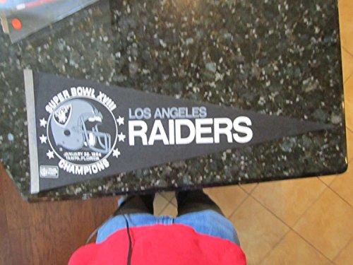 1984 Los Angeles Raiders (Los Angeles Raiders Superbowl XVIII 1984 full size Pennant)