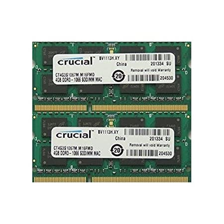 Ram memory 8GB kit 2 x 4GB DDR3 PC3-8500 1067MHz 204 PIN SODIMM for late 2008 2009 and Mid 2010 Macbook s Components at amazon
