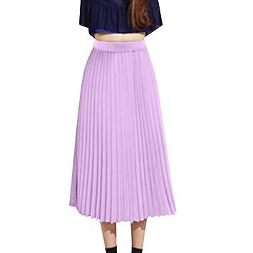 Daoroka Women Skirt Maxi Falda Larga de Gasa para Mujer, Informal ...