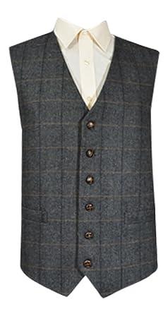 Classic mango de punto de espiga de lana tradicional diseño ...