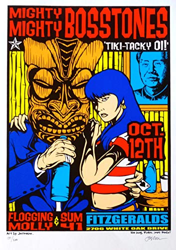 The Mighty Mighty Bosstones Poster w/Flogging Molly & Sum 41 2000 Concert