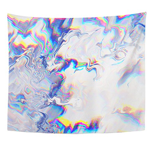 - Emvency Tapestry Glitch Manipulations 3D Effect Abstract Flow Crystals Glass Home Decor Wall Hanging for Living Room Bedroom Dorm 50x60 inches