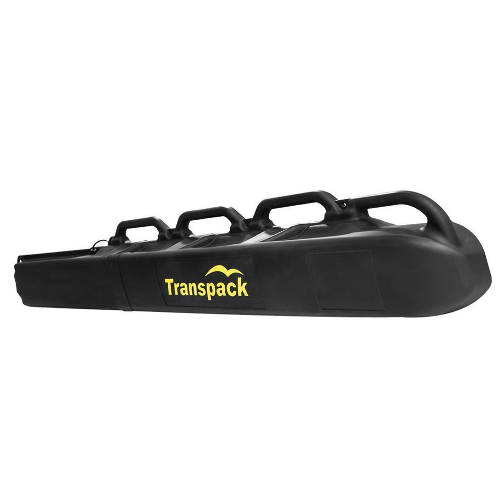 Transpack Hard Case Shuttle Rolling Single Pair Ski Carrier ~ Yellow Graphic