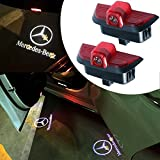 #8: For Mercedes Benz C Class White, JKCOVER Car Door LED Welcome Projector Blue Circle Logo Ghost Shadow Door Light - 2pcs