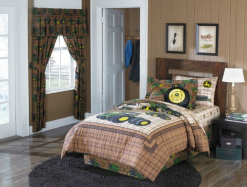 John Deere Tractor Boys Twin Comforter & Sheet Set (4 Piece Bedding)