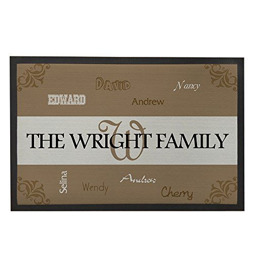 Custom Faimly Names Doormats Personalized Front Home Mat Christmas Hoursewarming Presents for Mom Outdoor Mats (Family Doormats Personalized)