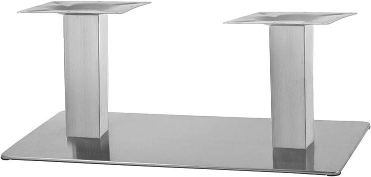 """Edelstahl Beistelltisch Tischgestell 45cm Modell """"Q"""" Wohnzimmertisch Sofa Tisch"""