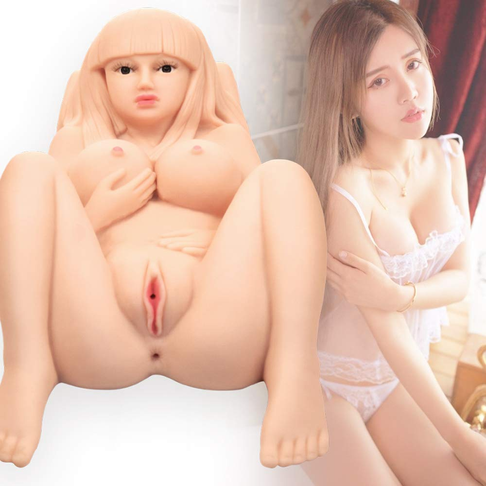 Full Size Entitiy Siliocen Women Live Doll with D-Cup for Men Male - Male Men 3D Soft and Elastic Adult Toy with 3 Channels for Men Male Realistic Doll Fun Toys (29×15×11in)