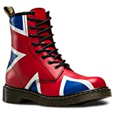 Dr. Martens Kid's Delaney Union Jack Youth Boots, Red, 5 Big Kid M UK, 6 M US