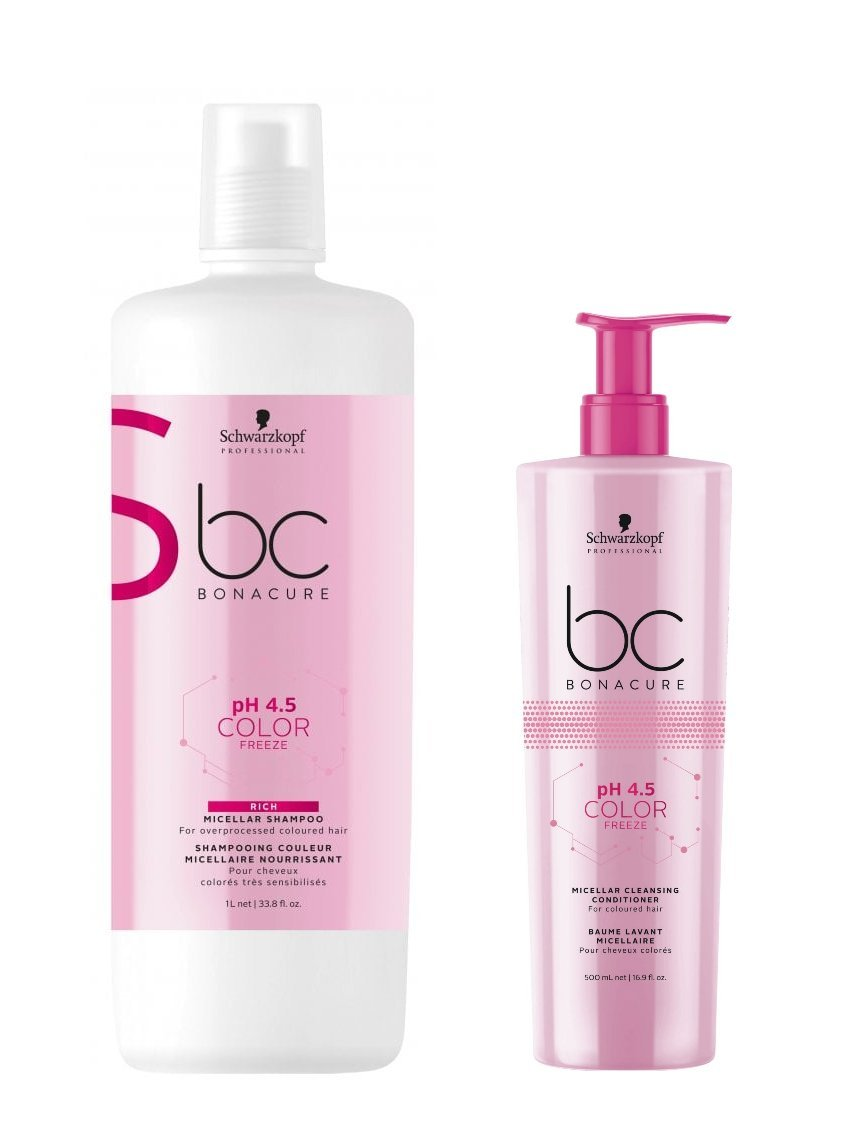 c75ebcda28 Schwarzkopf Bonacure pH 4.5 Color Freeze Micellar Rich Shampoo 1000ml and Cleansing  Conditioner 500ml: Amazon.co.uk: Health & Personal Care
