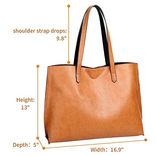Shoulder Bag Commuter Staple Lady Bag Bag Large Brown Purse Versatile Tote Oversized Women xYq5Fwvpn
