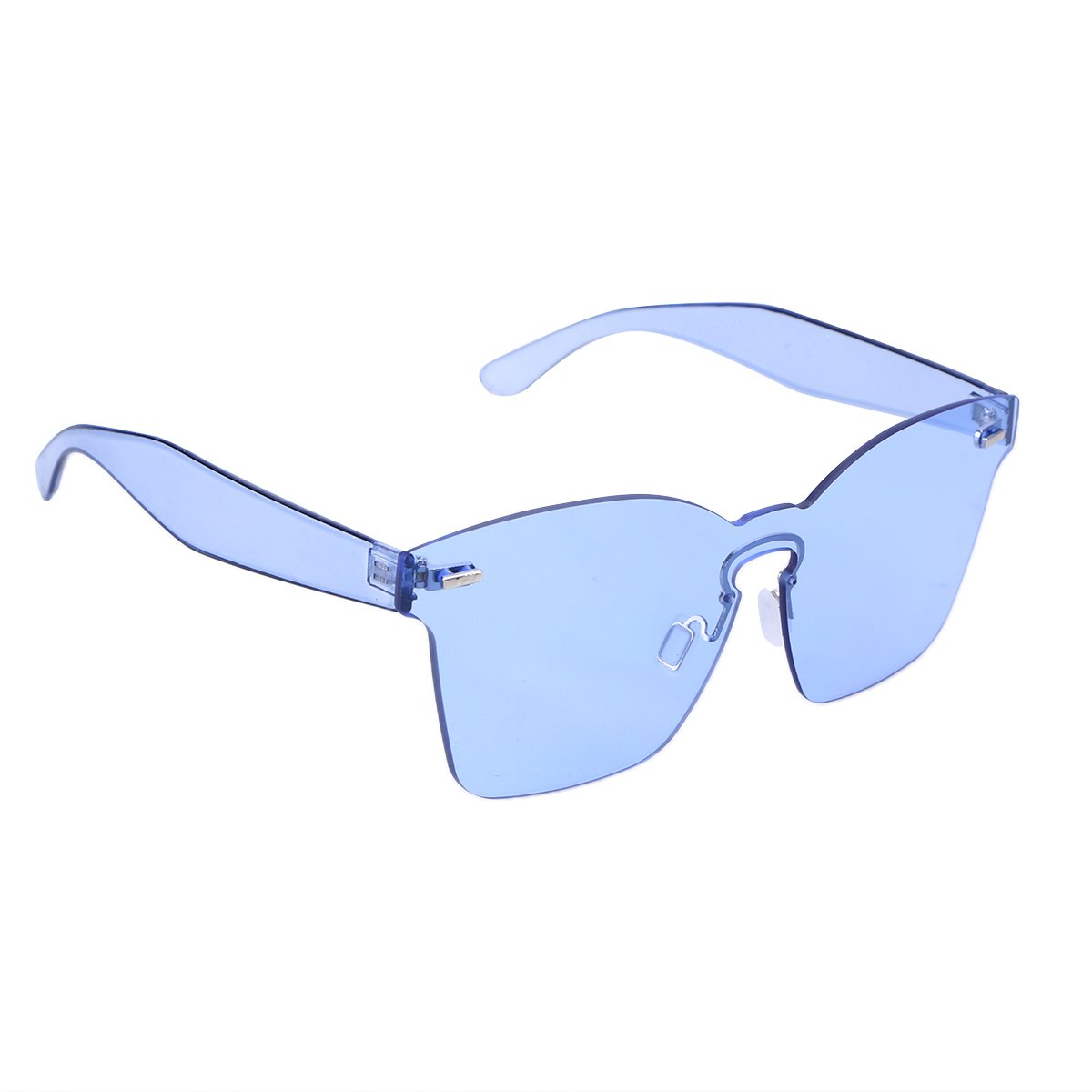 7b5a5035269 LUOEM Rimless Sunglasses Novelty Pratical Beach Seaside Sunglass Mirror  Summer Eyewear for Men Women (Blue)  Amazon.in  Clothing   Accessories
