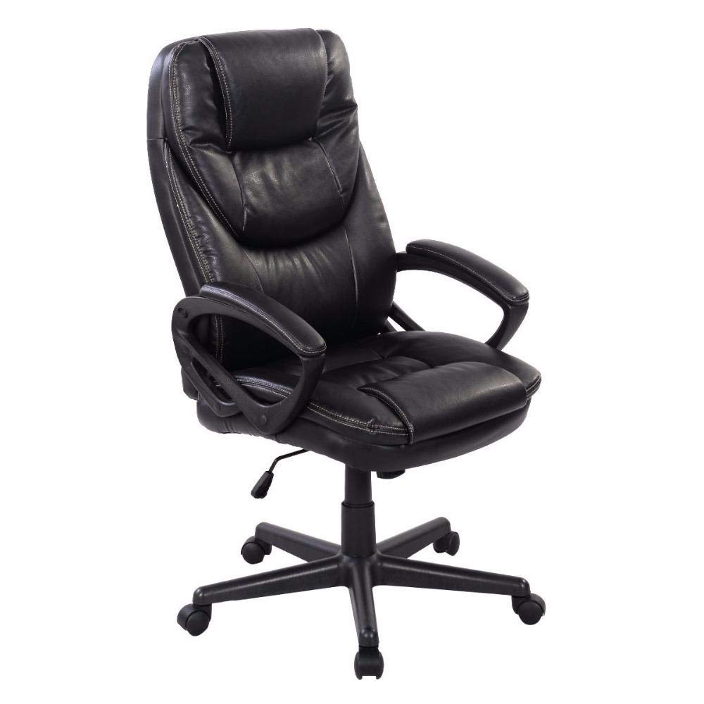 SwcWorldWide Sales PU Leather High Back Ergonomic Office/Computer Chair