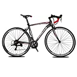 Max4out Road Bike for Men and Women, Featuring 21 and 14 Speed Drivetrain, 700C Wheel Suspension Fork Rear Suspension Bicycles