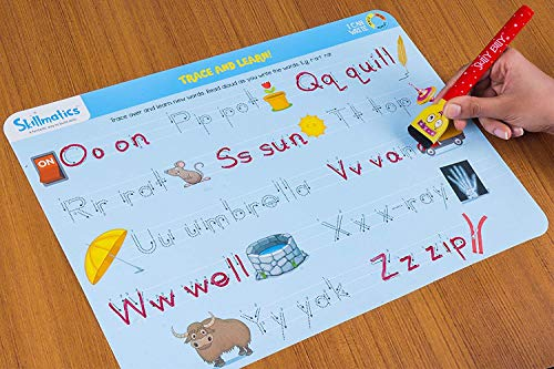 Skillmatics Educational Game: I Can Write (3-6 Years) | Erasable and Reusable Activity Mats with 2 Dry Erase Markers | Learning Tools for Boys and Girls 3, 4, 5, 6 Years