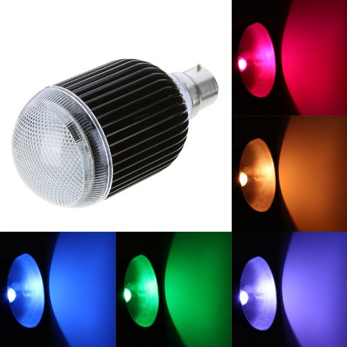Docooler Isunroad 10W 650LM LED RGB Light 2 Million Color Changing Voice Music Control High Power Energy Saving Bulb Lamp with IR Remote 110-240v