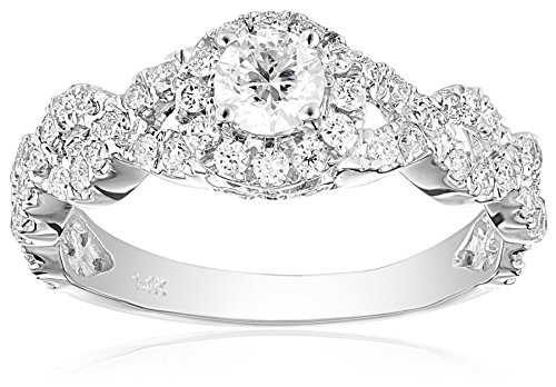 Diamond Antique Engagement Ring Setting (IGI Certified 14k Diamond Bridal Engagement Ring (1cttw, H-I Color, SI2-I1 Clarity), Size 8)
