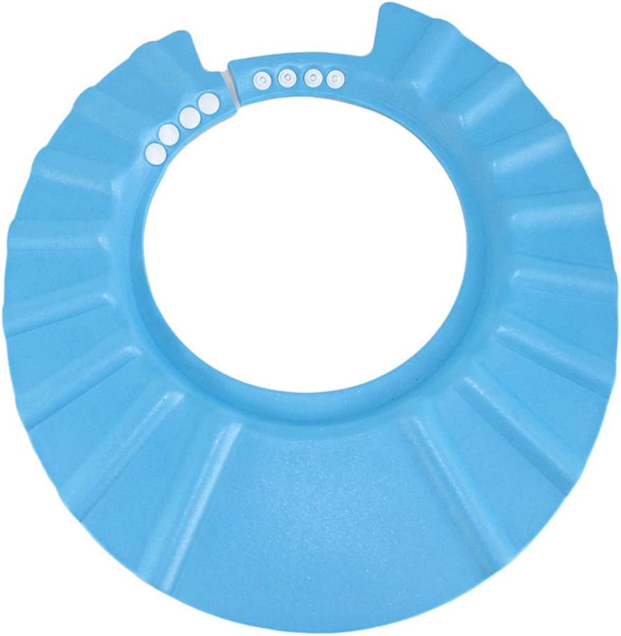 Mode f/ür Baby anpassen Shampoo Bad Sch/ützen Weicher Cap Blau
