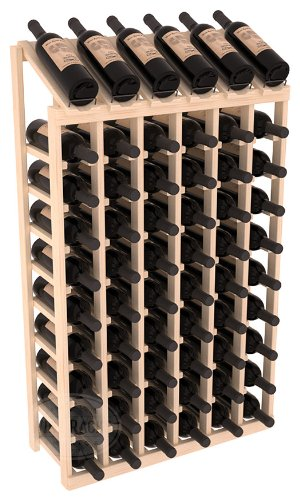 Wine Racks America Ponderosa Pine 6 Column 10 Row Display Top Kit. (6 Column Wine Rack)