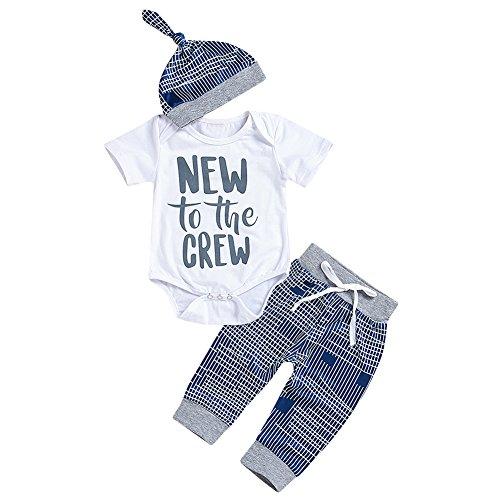 09b525db5d48 Miwear Newborn Baby Boys Outfits Letter Print Romper Top + Long ...