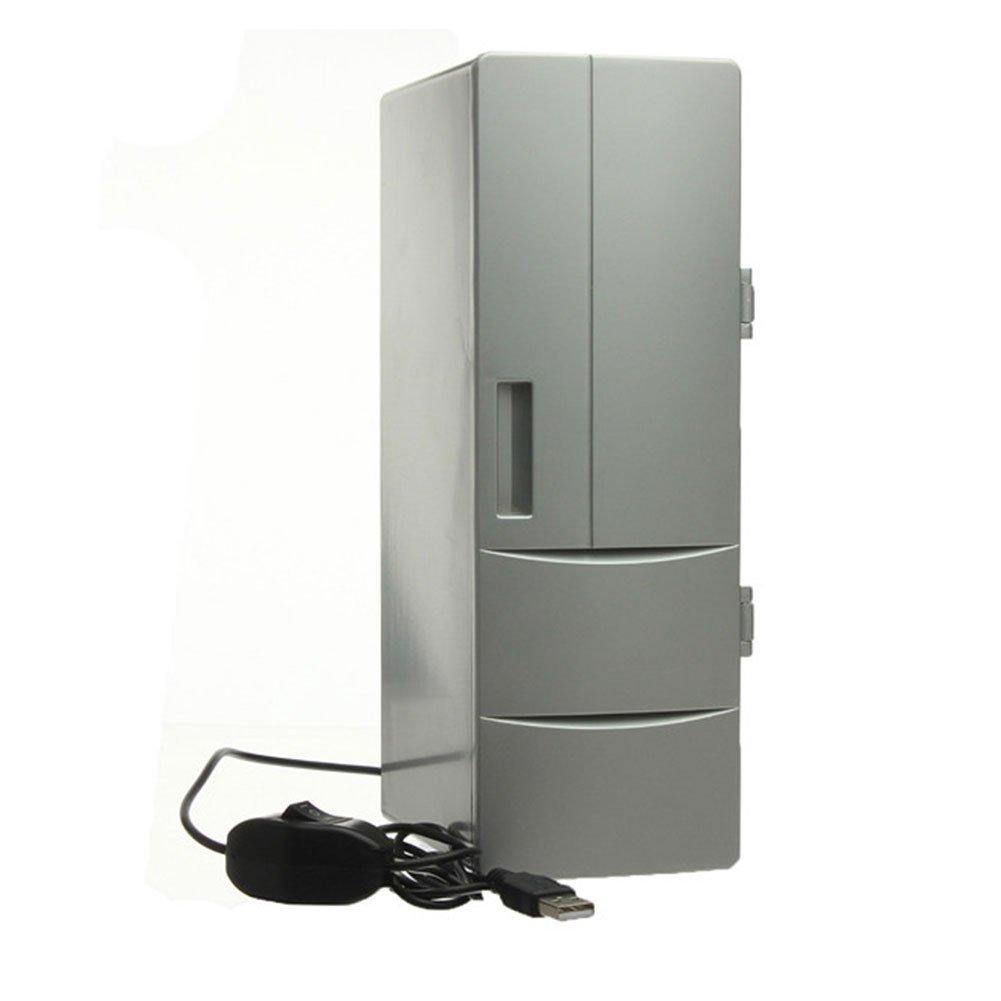 Cewaal Mini USB Cooler Warmer Desktop Fridge Beverage Soda Drink Can Cooling Refrigerator