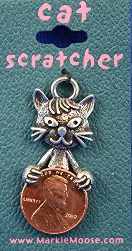 Lucky Penny Pewter Lottery Scratchers from Markie Moose - Scratch Cat