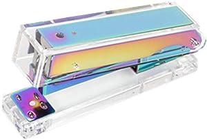 Clear Acrylic Rainbow Stapler Colorful Desktop Staplers with Classic Modern Design Sleek Office and Desk Accessories Gift Idea (Rainbow)