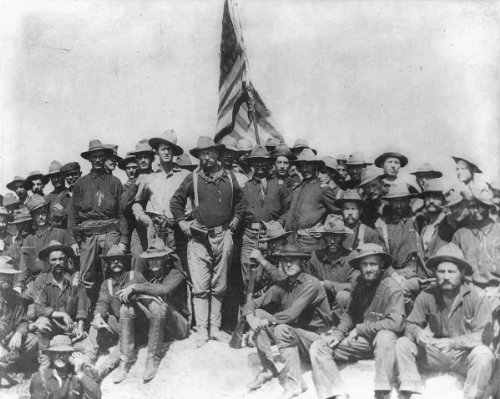(New 8x10 Photo: Theodore Roosevelt with his Rough Riders)