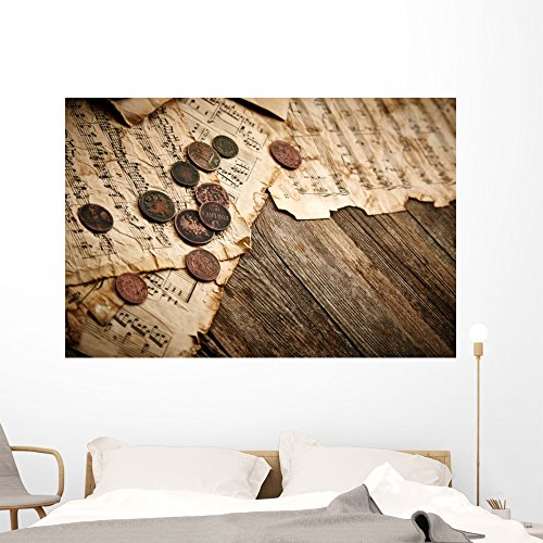 Vintage Still Life with Wall Mural by Wallmonkeys Peel and Stick Graphic (60 in W x 40 in H) WM364861