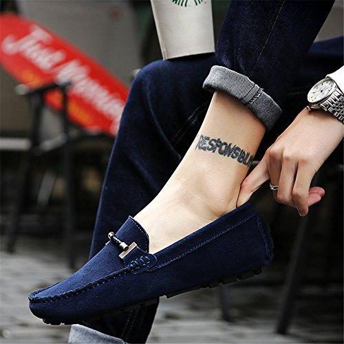 DE000 bajo loafers 5088 de Hombre SHELAIDON Tobillo Piel Azul waUSCxnqE