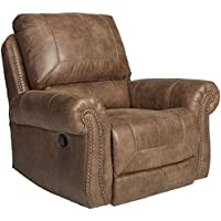 Ashley Furniture Signature Design - Larkinhurst Rocker Recliner - Manual Reclining Chair - Traditional Style - Earth