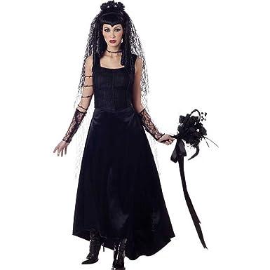 amazoncom gothic bride adult halloween costume size small clothing