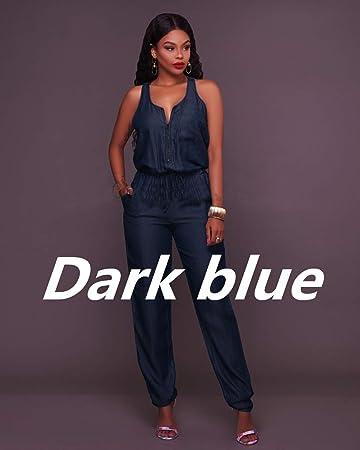 c35cb51b4 Amazon.com  maket Jumpsuits Jeans European Style Women Jumpsuit ...