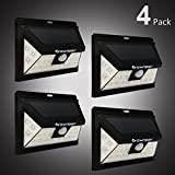 4 Pack Solar Lights Outdoor Wireless 24 LED Motion Sensor Solar Lights with Wide Lighting Area Brightly Lignting/Dim/Sensor Mode Waterproof Security Lights for Front Door, Back Yard, Driveway, Garage For Sale