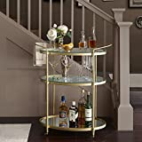 Lauren Bar Cart Antique Gold See below