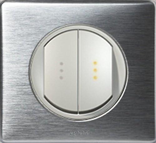 griffe Non Double Interrupteur /à voyant t/émoin C/éliane Anodis/é Aluminium