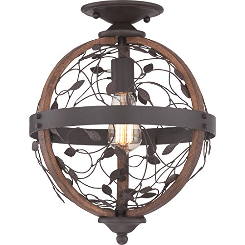 Chambers Ceiling Fixture - Quoizel CHB1612DK 1-Light Chamber Flush Mount in Darkest Bronze