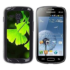 Be Good Phone Accessory // Dura Cáscara cubierta Protectora Caso Carcasa Funda de Protección para Samsung Galaxy S Duos S7562 // Leaves Nature Jungle Vibrant Color