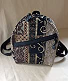 Ladies Backpack Purse Backpack Handbag in Dartmouth Tapestry handmade by MKI Bags