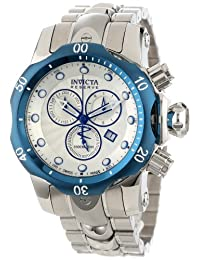 Invicta Men's 10806 Venom Reserve Chronograph Silver Textured Dial Stainless Steel Watch