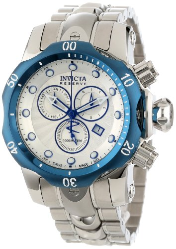Invicta Men's 10806 Venom Reserve Chronograph Silver-Tone Stainless Steel Watch